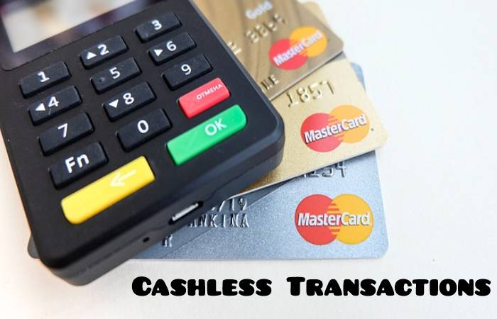 Cashless Transactions - uses of internet
