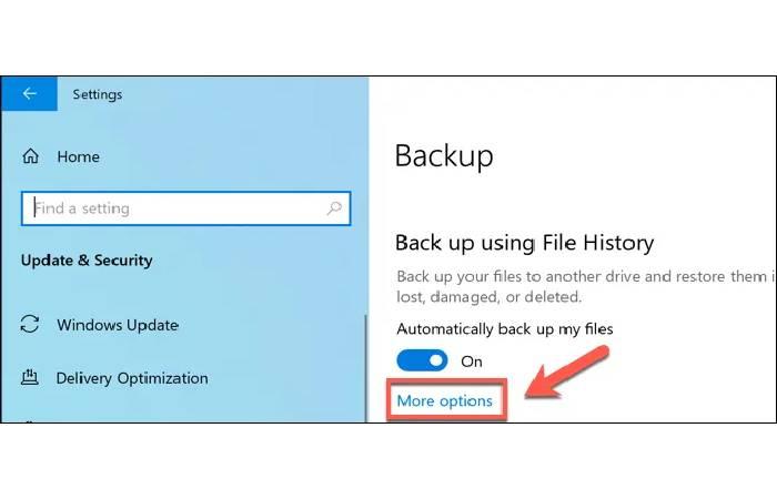 Deleting Windows File History